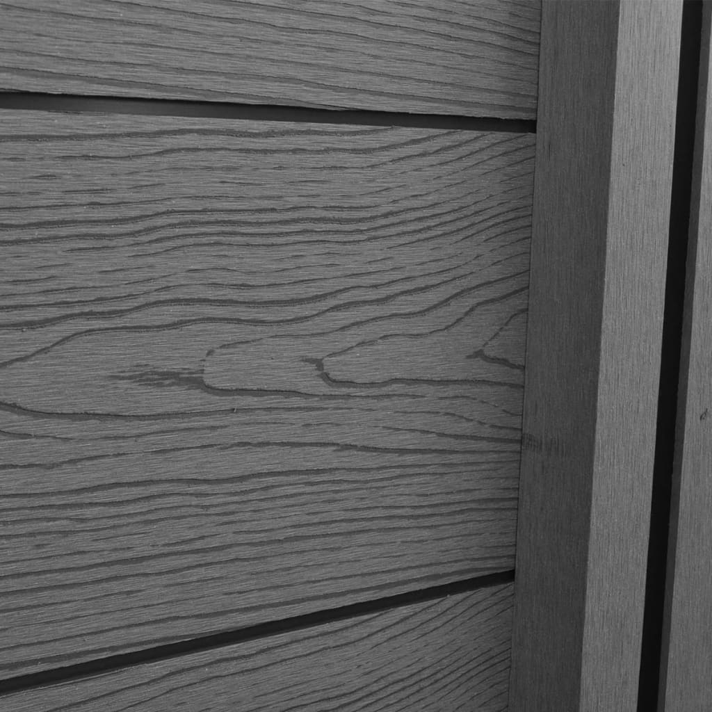 la boutique en ligne panneau cl ture de jardin carr gris wpc 4 pcs. Black Bedroom Furniture Sets. Home Design Ideas