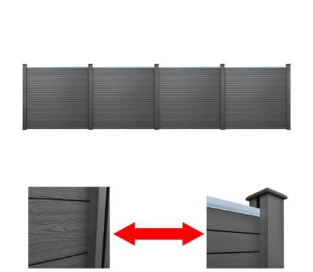 der 4 x quadratisches wpc gartenzaun element grau 774 4 x. Black Bedroom Furniture Sets. Home Design Ideas