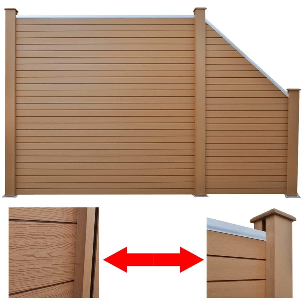 wpc alu sichtschutz zaun gartenzaun windschutz terrasse garten sichtschutzzaun ebay. Black Bedroom Furniture Sets. Home Design Ideas