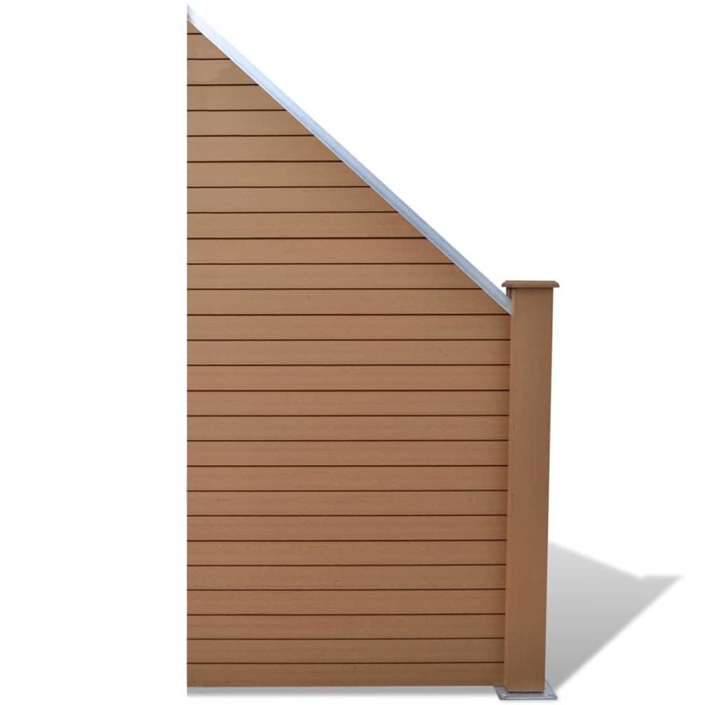271756 braunes wpc zaunelemente set 2 quadratisch 1 abgeschr gt 488cm g nstig kaufen. Black Bedroom Furniture Sets. Home Design Ideas