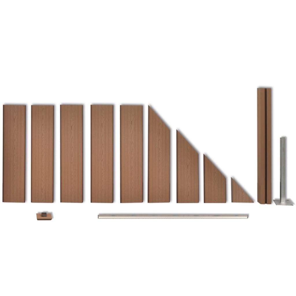Hervorragend Braunes WPC-Zaun-Set 3 x quadratisch + 1 x abgeschrägt 679 cm  YX73