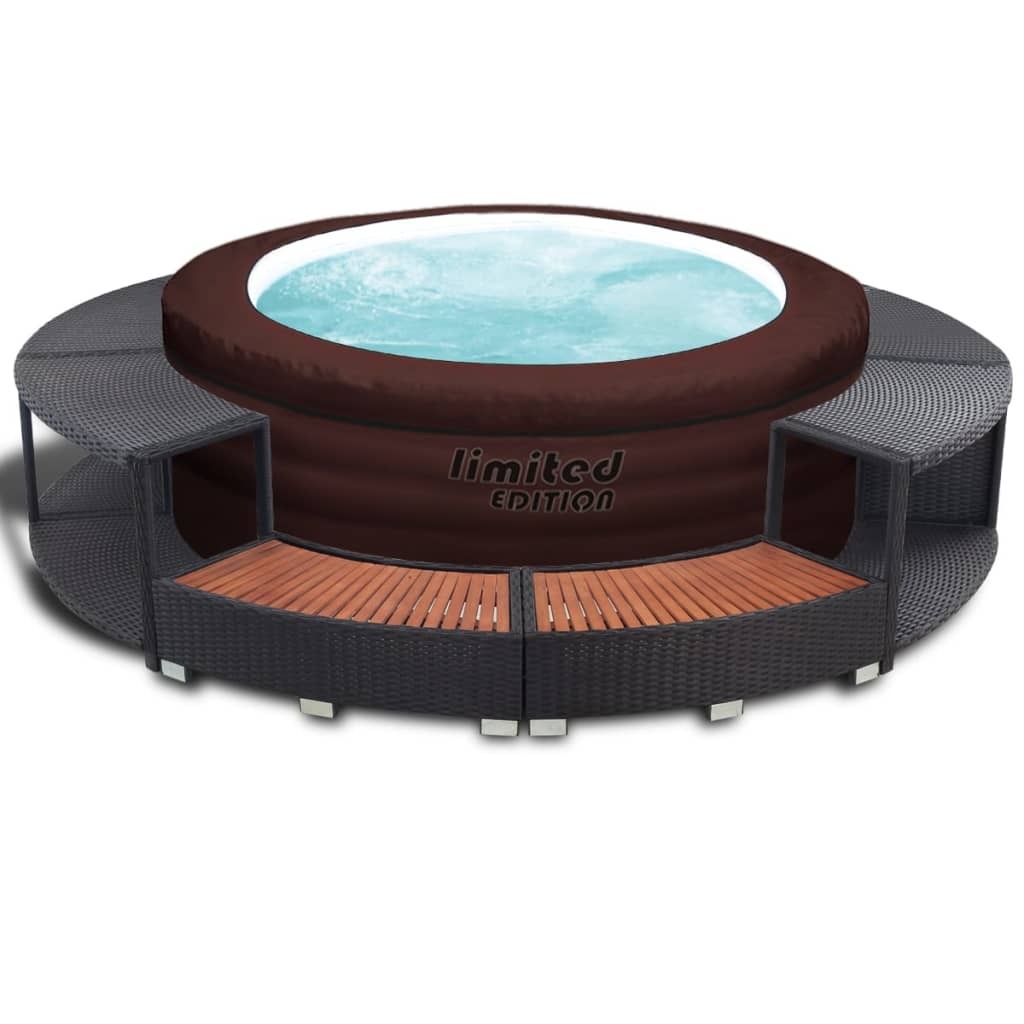Afbeelding van Bestway LAY-Z SPA opblaasbare Hot Tub met rattan rand