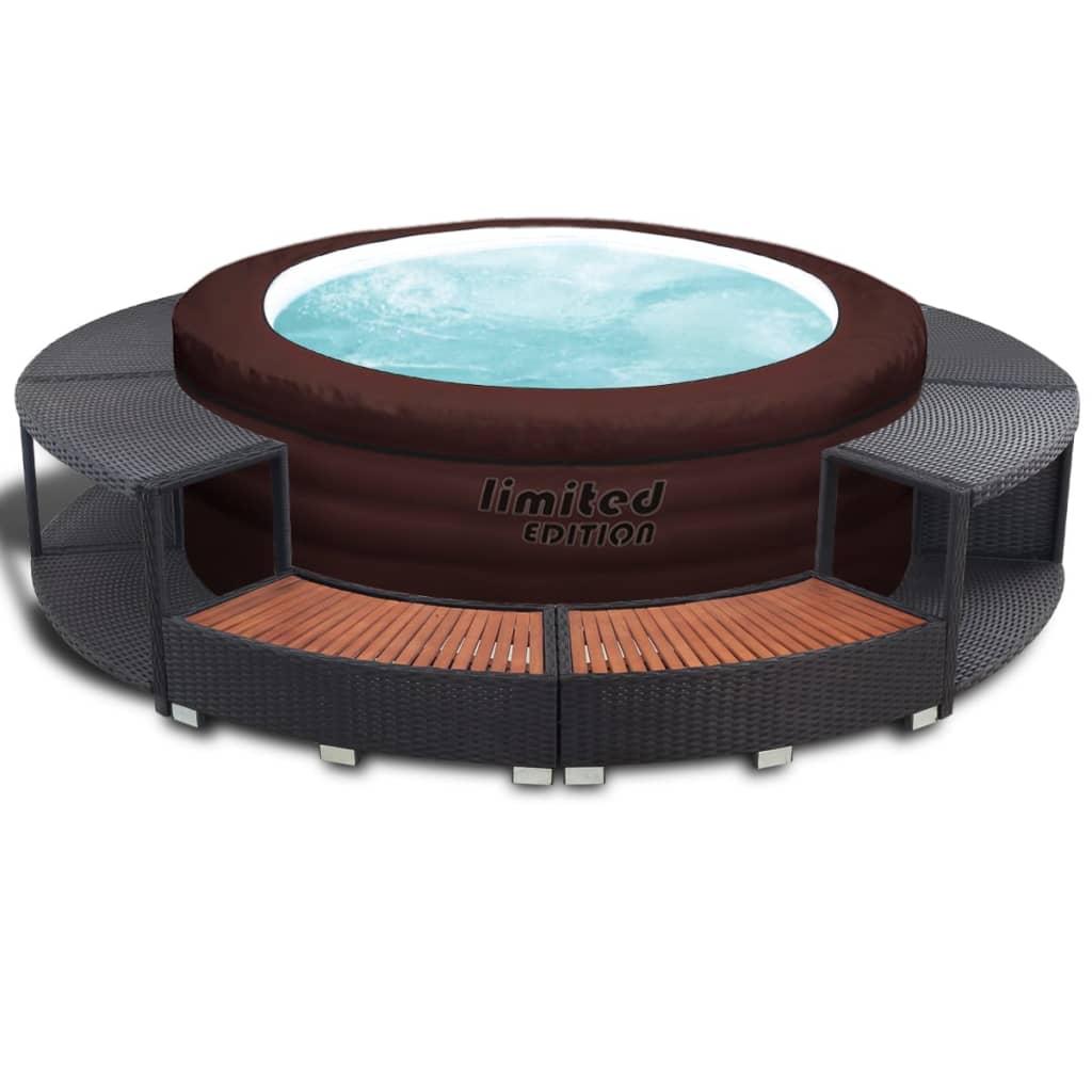 acheter cuve thermale gonflable avec spa poly rotin bestway dition limit e pas cher. Black Bedroom Furniture Sets. Home Design Ideas