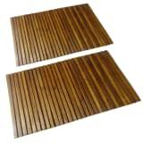 2 db akác fa fürdőszoba szőnyeg 80 x 50 cm