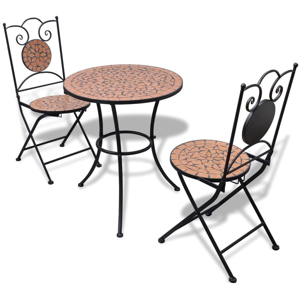 New mosaic table bistro chair set 12 models selectable for Outdoor garden set