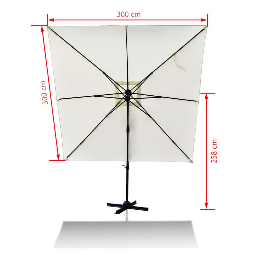 acheter parasol roma 3 x 3 m en aluminium avec pied portable pas cher. Black Bedroom Furniture Sets. Home Design Ideas