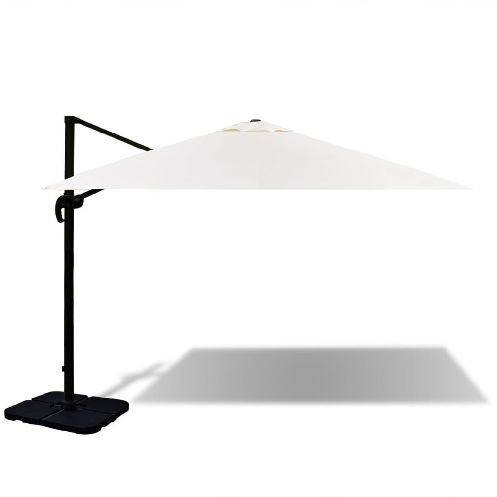 Portable Umbrella Base : Vidaxl roma umbrella aluminium with portable base