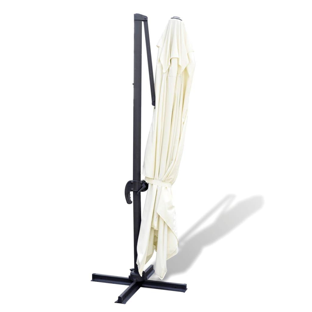 roma sonnenschirm aus aluminium mit tragbarer basis 3 x 4 m g nstig kaufen. Black Bedroom Furniture Sets. Home Design Ideas