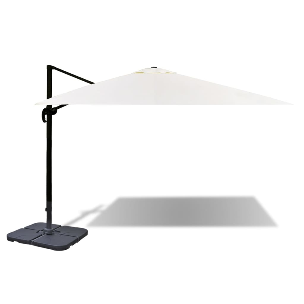 la boutique en ligne parasol roma 3 x 4 m en aluminium avec pied portable. Black Bedroom Furniture Sets. Home Design Ideas