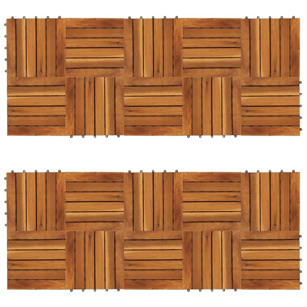 vidaXL 20 db akácfa teraszburkolat függőleges vonalakkal 30 x cm