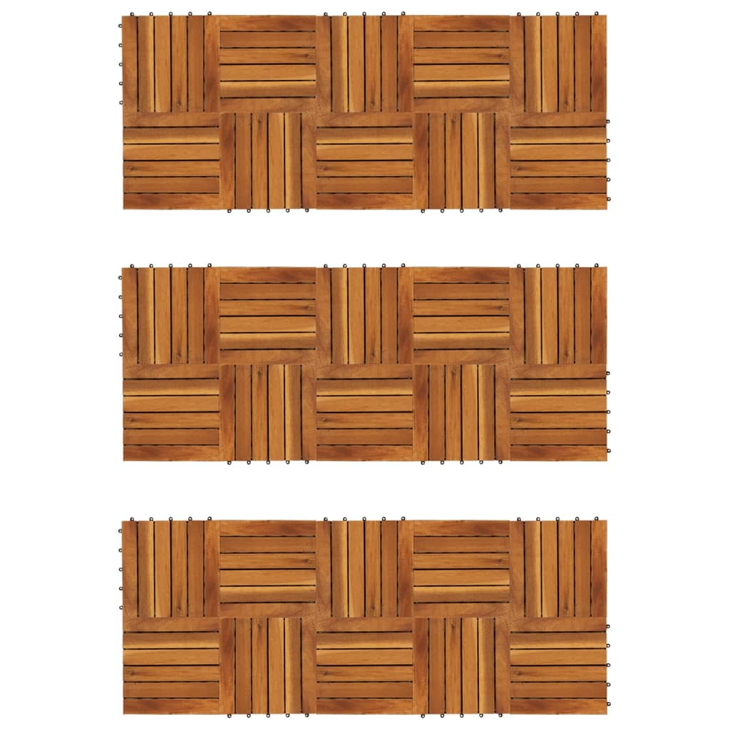 Balkongplattor med vertikal design 30 x 30 st