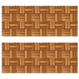 Set 20 baldosas de madera de acacia, 30 x 30 cm