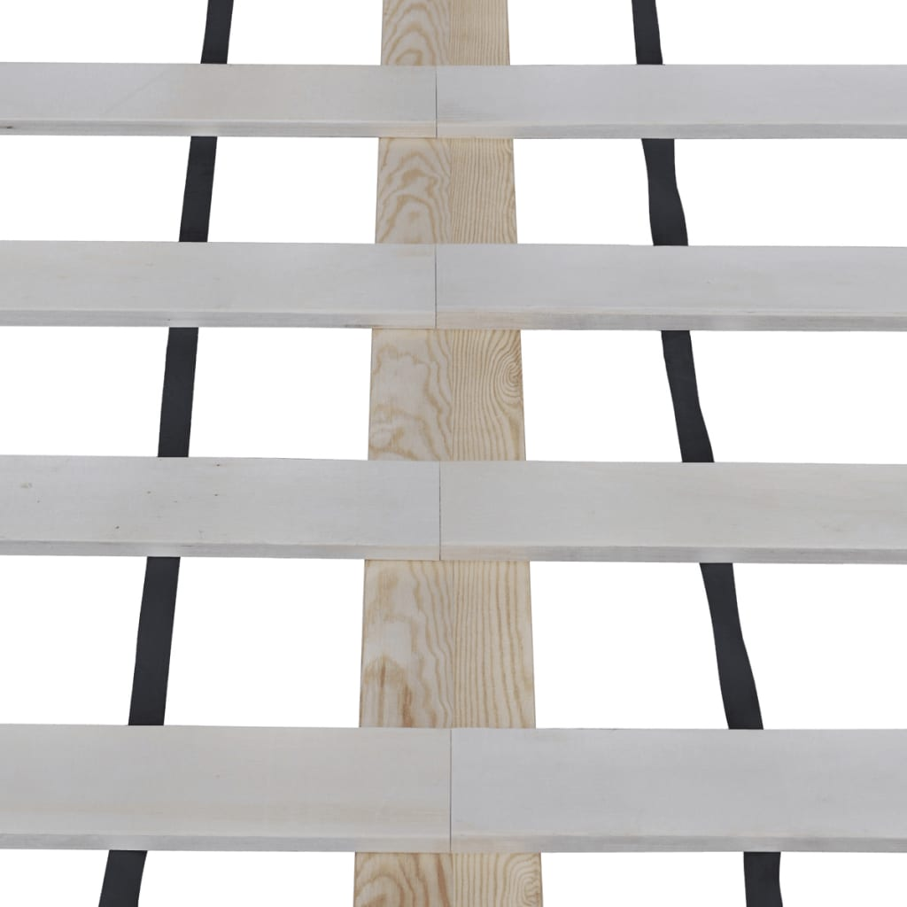 holz bett 200 x 180 cm mit memory foam matratze g nstig. Black Bedroom Furniture Sets. Home Design Ideas