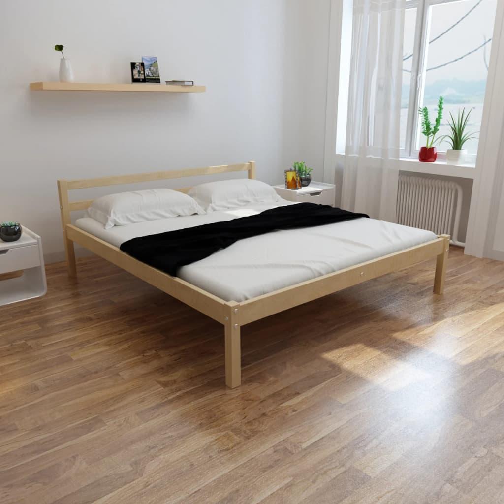vidaXL Fenyőfa ágy memóriahabos matraccal 200 x 180 cm