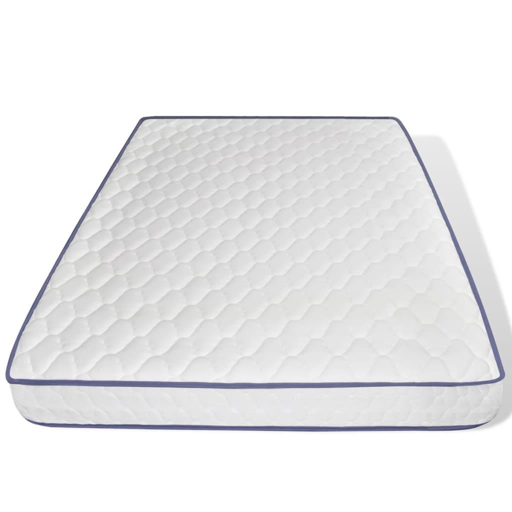 acheter lit blanc en pin 200 x 140 cm matelas en mousse m moire de forme pas cher. Black Bedroom Furniture Sets. Home Design Ideas