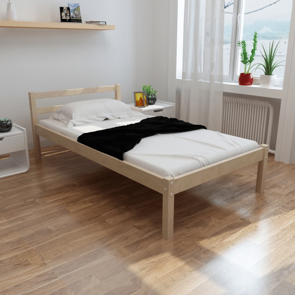 holz bett 200 x 90 cm mit matratze g nstig kaufen. Black Bedroom Furniture Sets. Home Design Ideas
