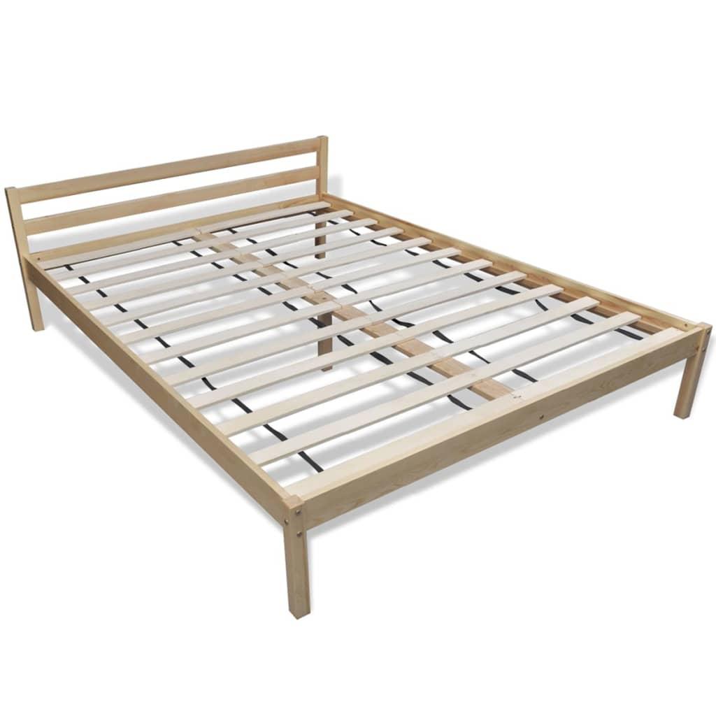 Holz bett 200 x 140 cm mit matratze g nstig kaufen for Bett mit matratze