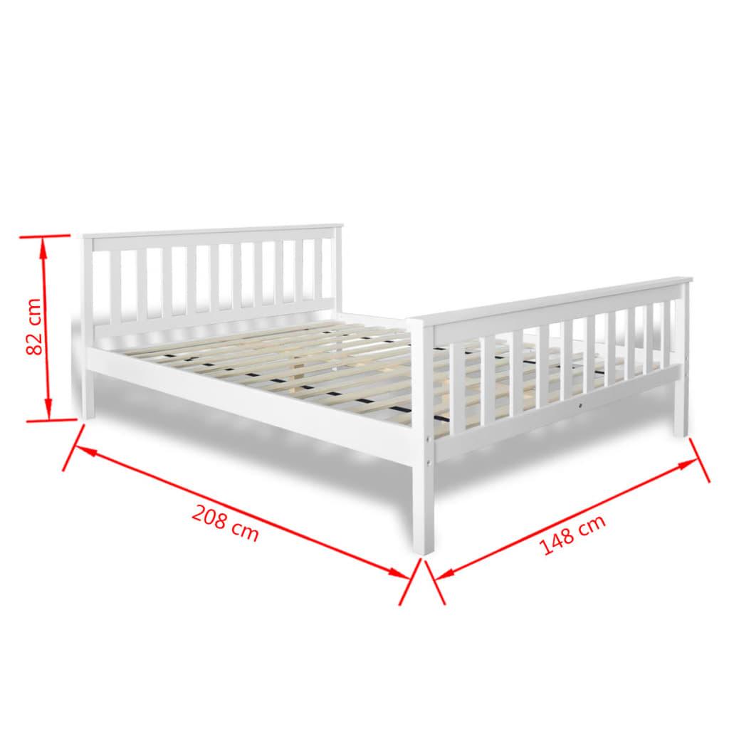 la boutique en ligne lit en pin blanc 200 x 140 cm avec matelas. Black Bedroom Furniture Sets. Home Design Ideas