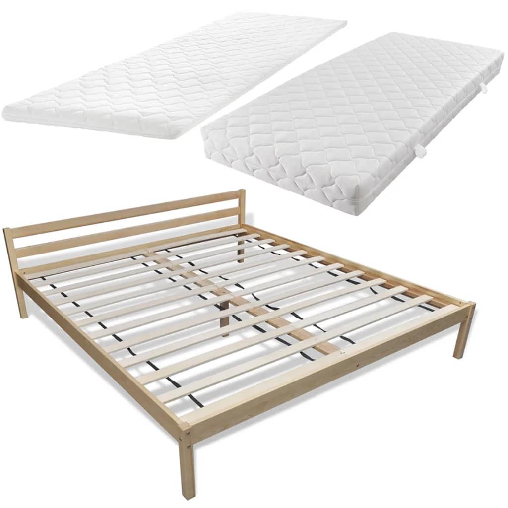 acheter lit en pin 180 cm surmatelas m moire de forme matelas pas cher. Black Bedroom Furniture Sets. Home Design Ideas