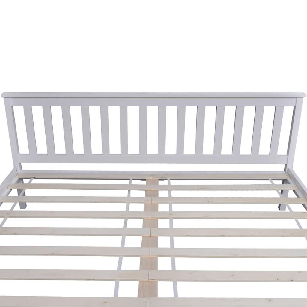 acheter lit blanc en pin 180 cm surmatelas m moire de forme matelas pas cher. Black Bedroom Furniture Sets. Home Design Ideas