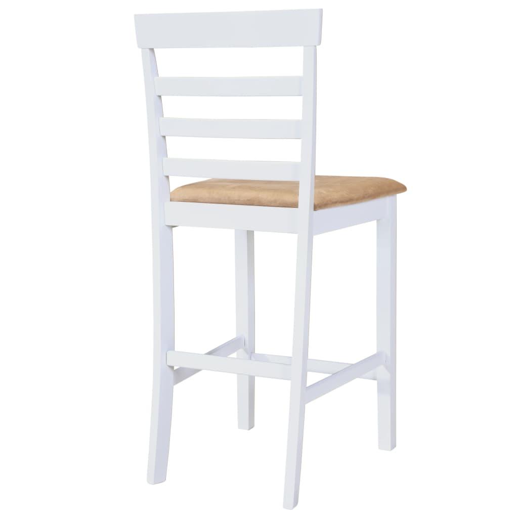 Acheter set table et 4 chaises de bar en bois coloris for Table et chaise bois blanc