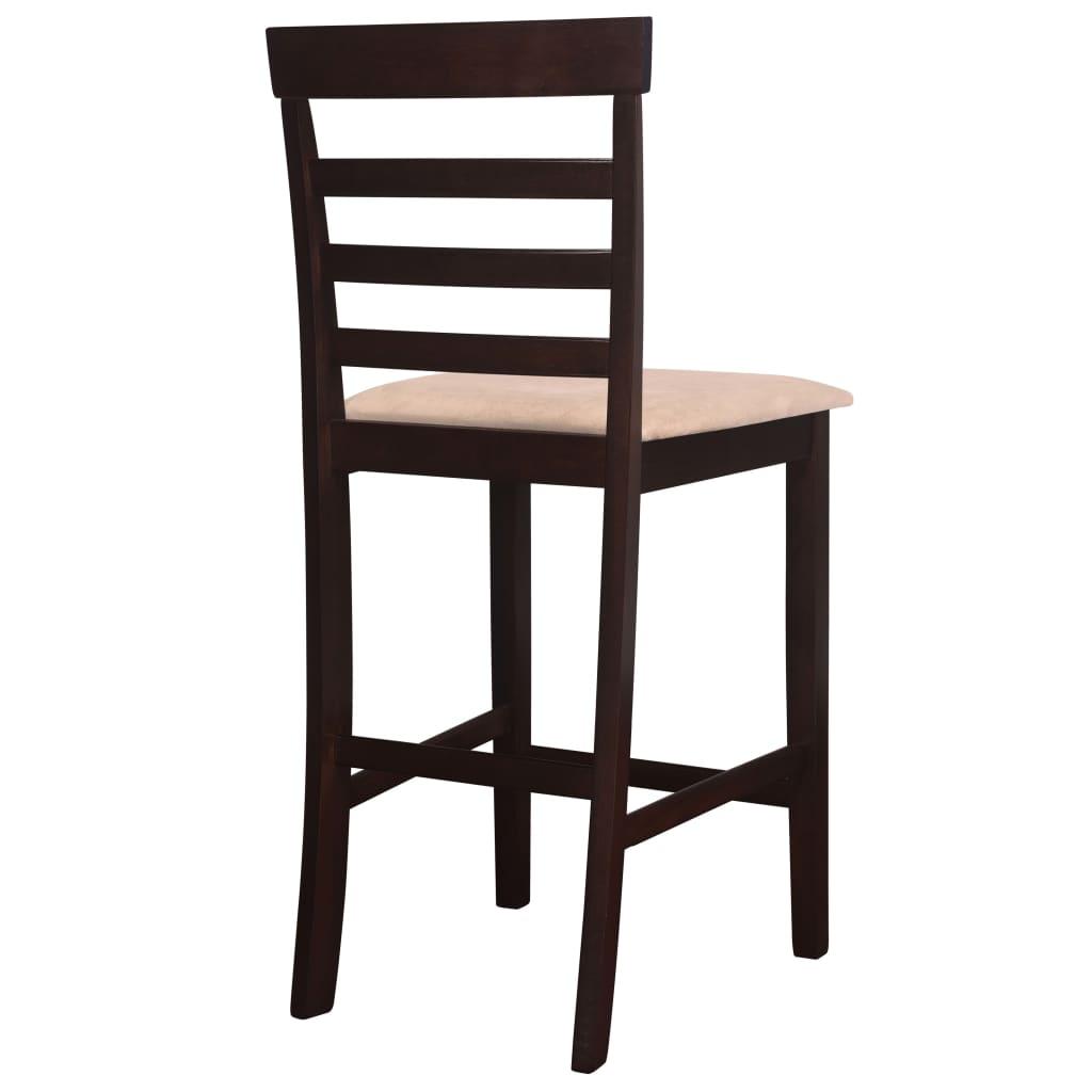 vidaxl h lzerner stehtisch und 4 barhocker braun g nstig. Black Bedroom Furniture Sets. Home Design Ideas