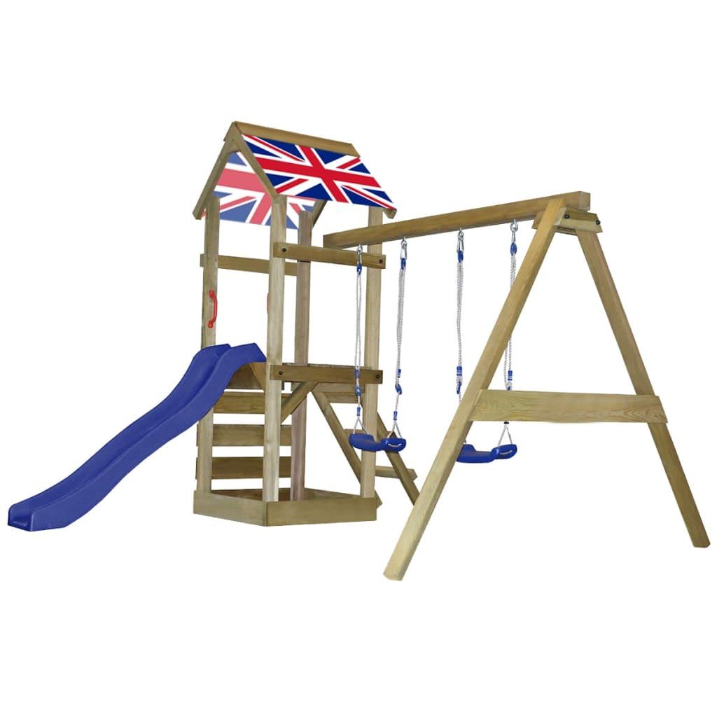 Acheter aire de jeux en bois avec chelle toboggan - Aire de jeux toboggan ...