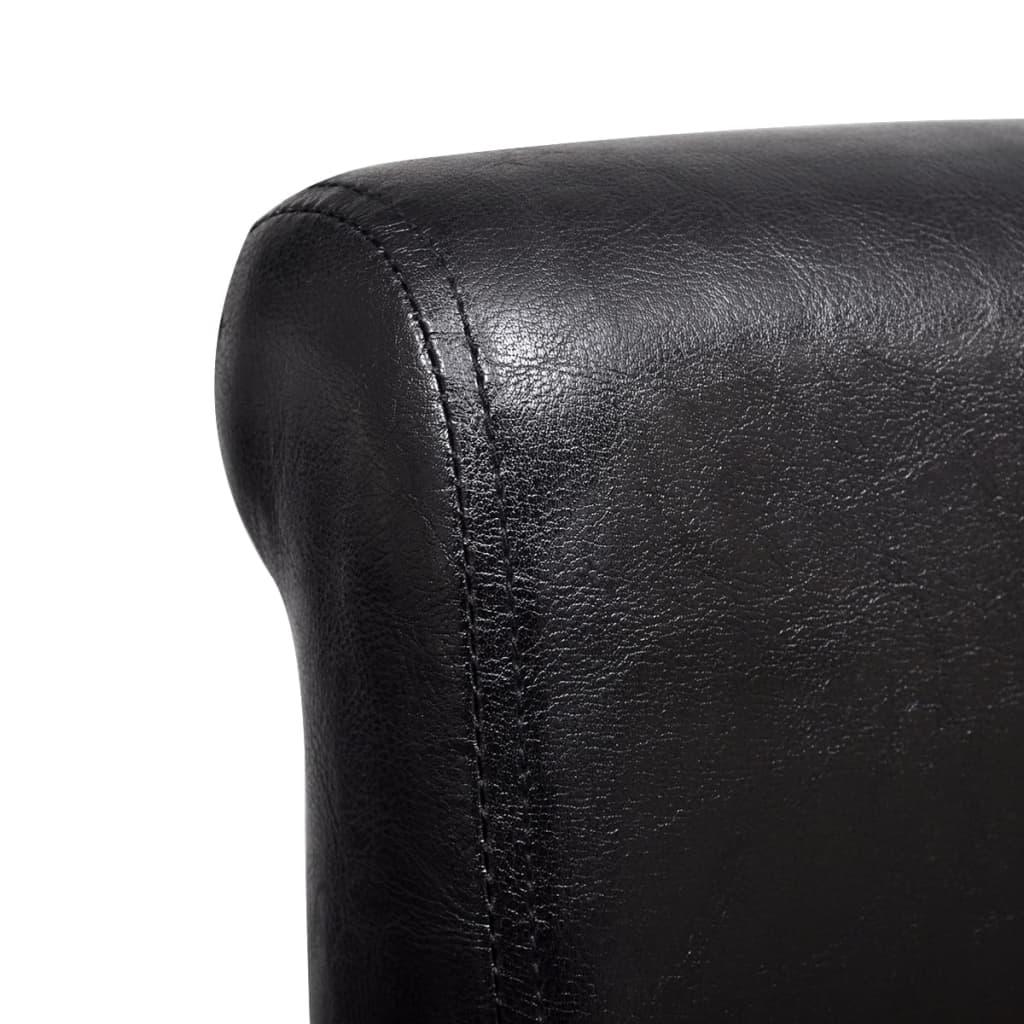 esszimmerstuhl kunstleder schwarz 6er set g nstig kaufen. Black Bedroom Furniture Sets. Home Design Ideas