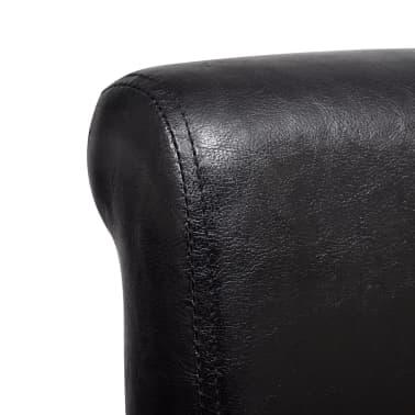 Esszimmerstuhl kunstleder schwarz 6er set g nstig kaufen for Esszimmerstuhl schwarz kunstleder
