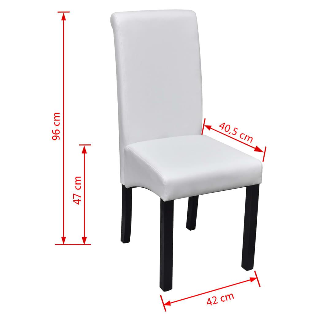 silla de comedor elegante de piel sint tica 6 unidades