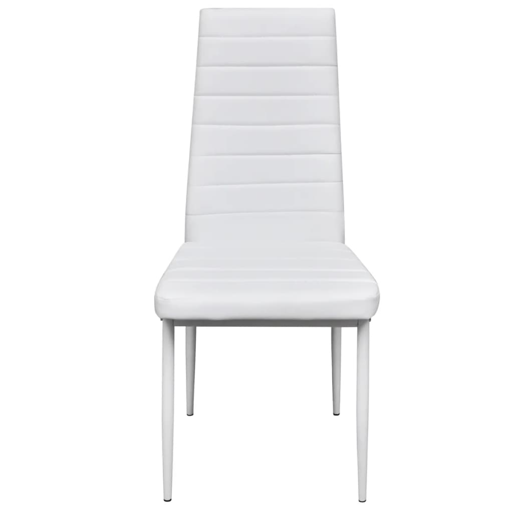 6 pcs white slim line dining chair