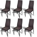 6 pcs Brown Slim Line Dining Chair