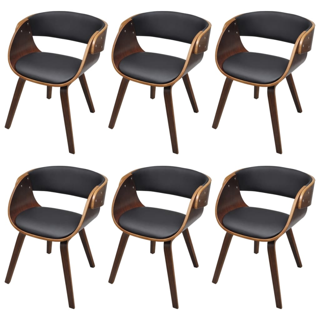 Set of 6 dining chair with padded bentwood seat for Set of 6 dining chairs