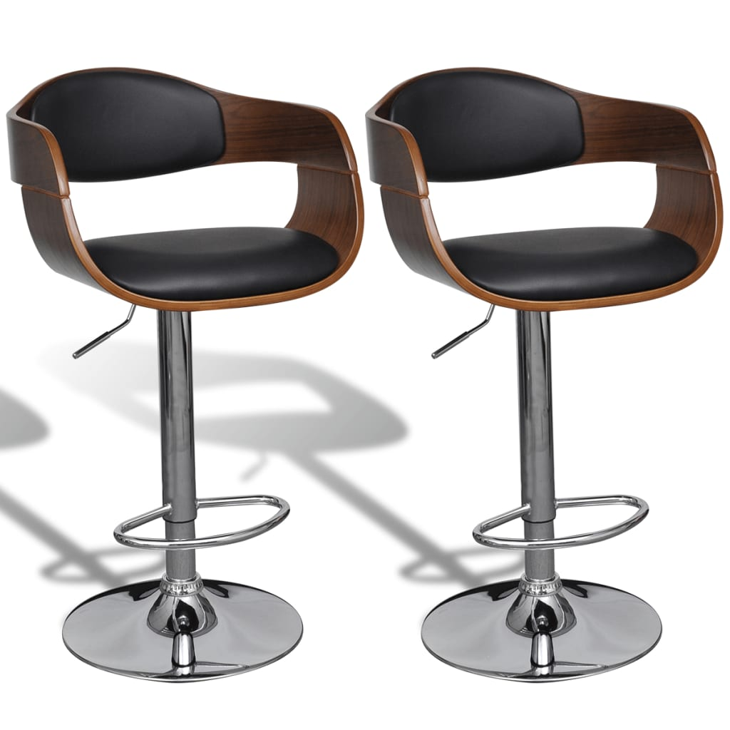 vidaxl-set-of-2-adjustable-swivel-bar-stool-leather-with-backrest