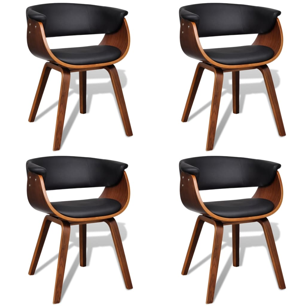 vidaXLcouk Set of 4 Artificial Leather Dining Chair  : image from www.vidaxl.co.uk size 1024 x 1024 png 304kB