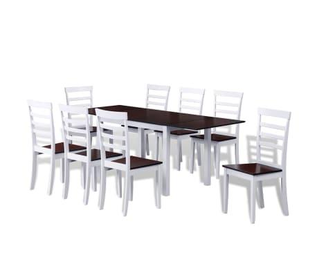 Articoli per vidaxl tavolo da pranzo in legno con for Tavolo bianco con sedie