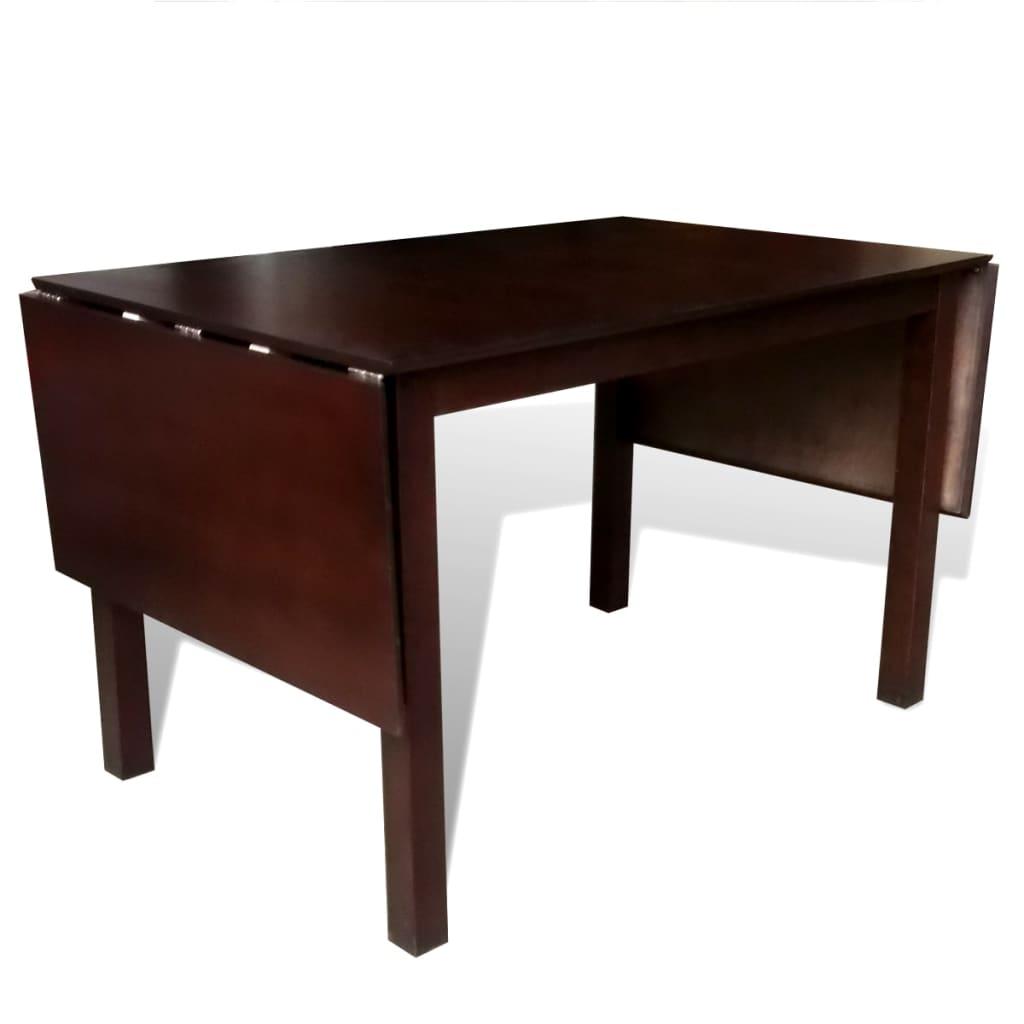 acheter set table extensible et 8 chaises marron cr me en bois massif pas cher. Black Bedroom Furniture Sets. Home Design Ideas