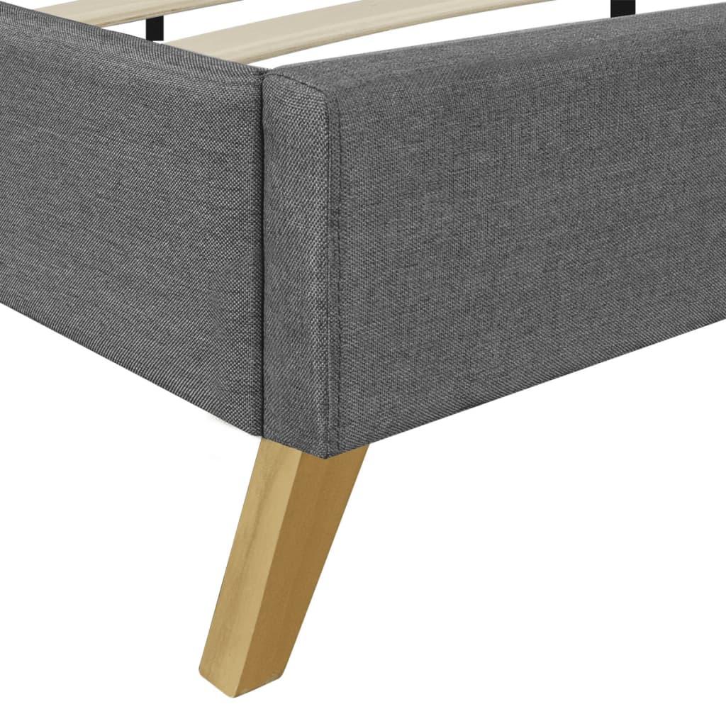 der hellgraues bett 200 x 140 cm holz mit stoffbezug. Black Bedroom Furniture Sets. Home Design Ideas