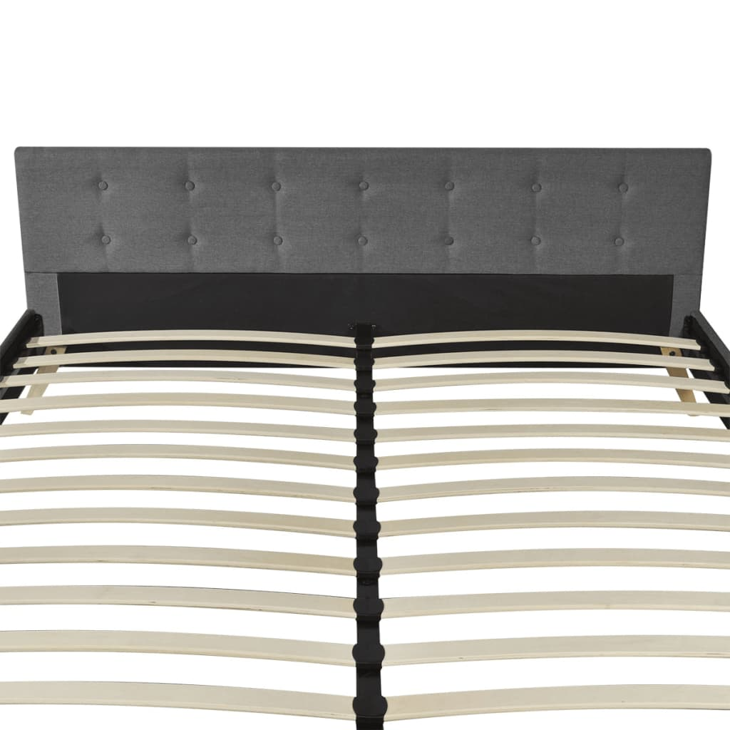 hellgraues bett 200 x 180 cm holz mit stoffbezug memory matratze g nstig kaufen. Black Bedroom Furniture Sets. Home Design Ideas