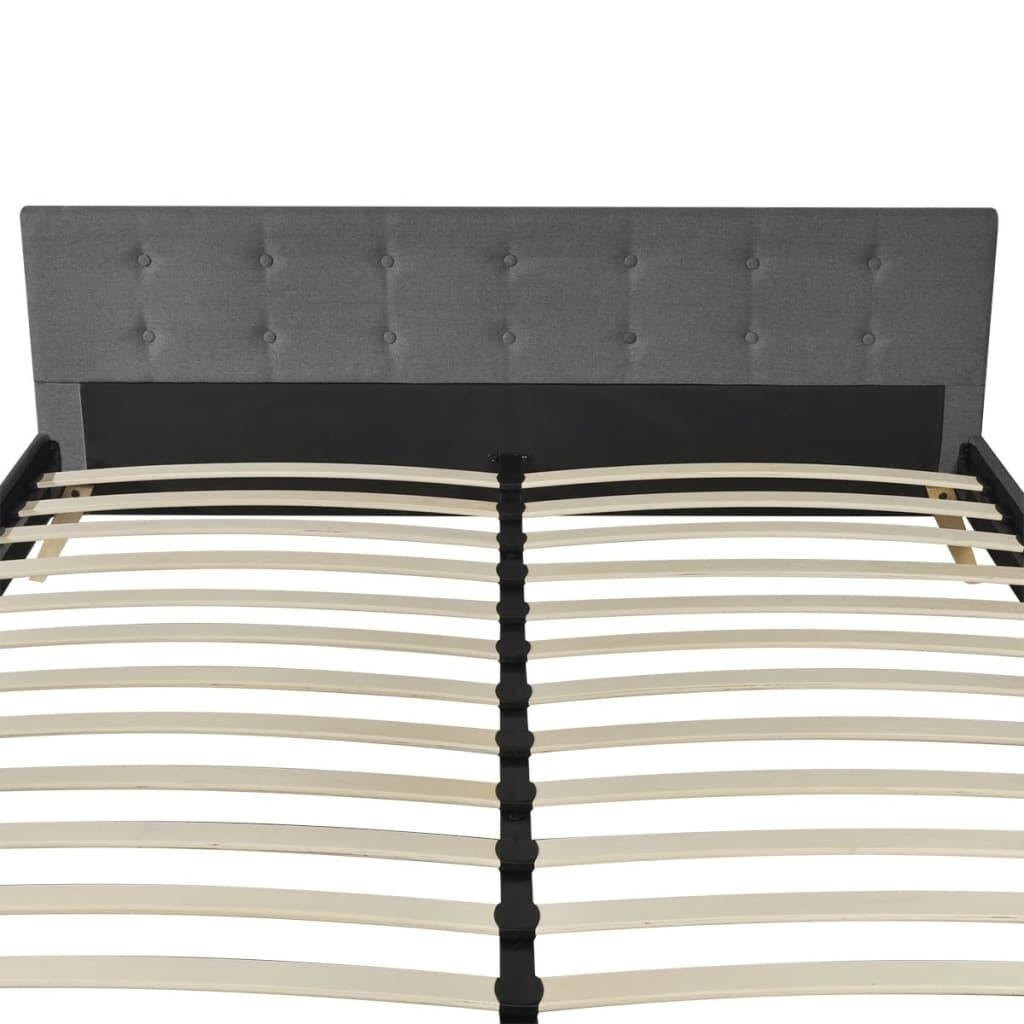 acheter lit bois 180cm tissu gris clair matelas surmatelas m moire pas cher. Black Bedroom Furniture Sets. Home Design Ideas