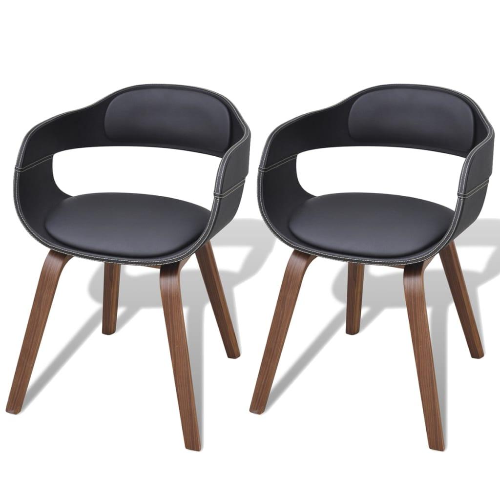 Vidaxl 2 4 6x sedie da pranzo in similpelle legno da for Tavola da pranzo in legno