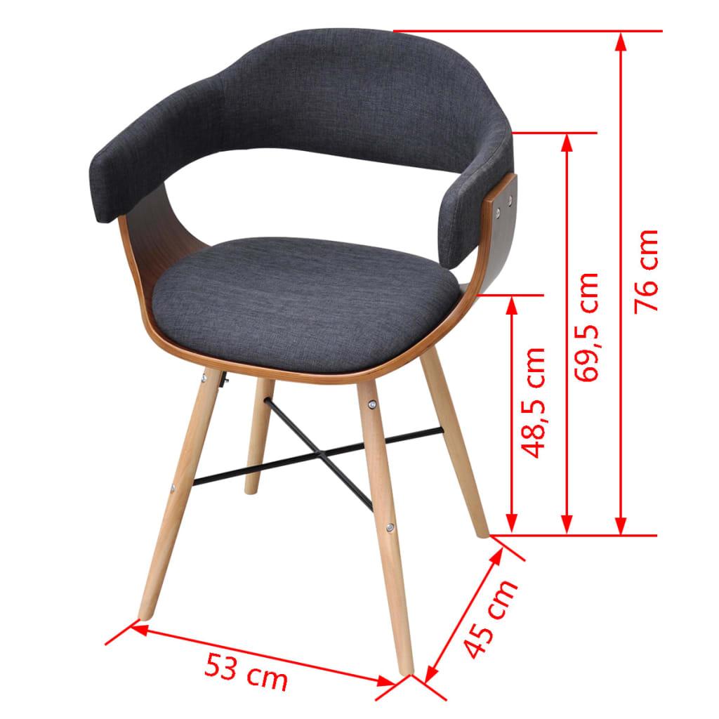 Silla de comedor bentwood con tapicer a de tela 4 - Tela para sillas de comedor ...