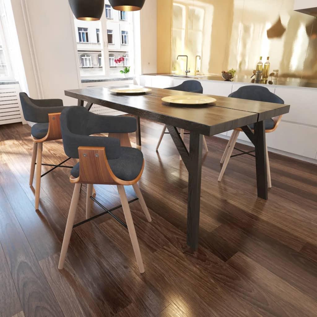 vidaXL-Set-4-pz-Sedia-sala-da-pranzo-in-legno-curvato-e-rivestimento-in-tessuto