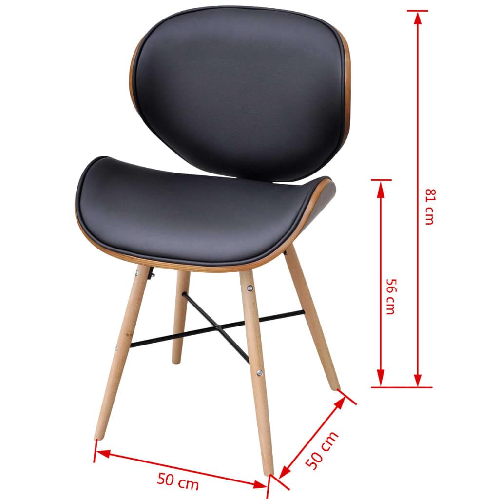 4 x esszimmerst hle ohne armlehnen mit bugholz rahmen. Black Bedroom Furniture Sets. Home Design Ideas
