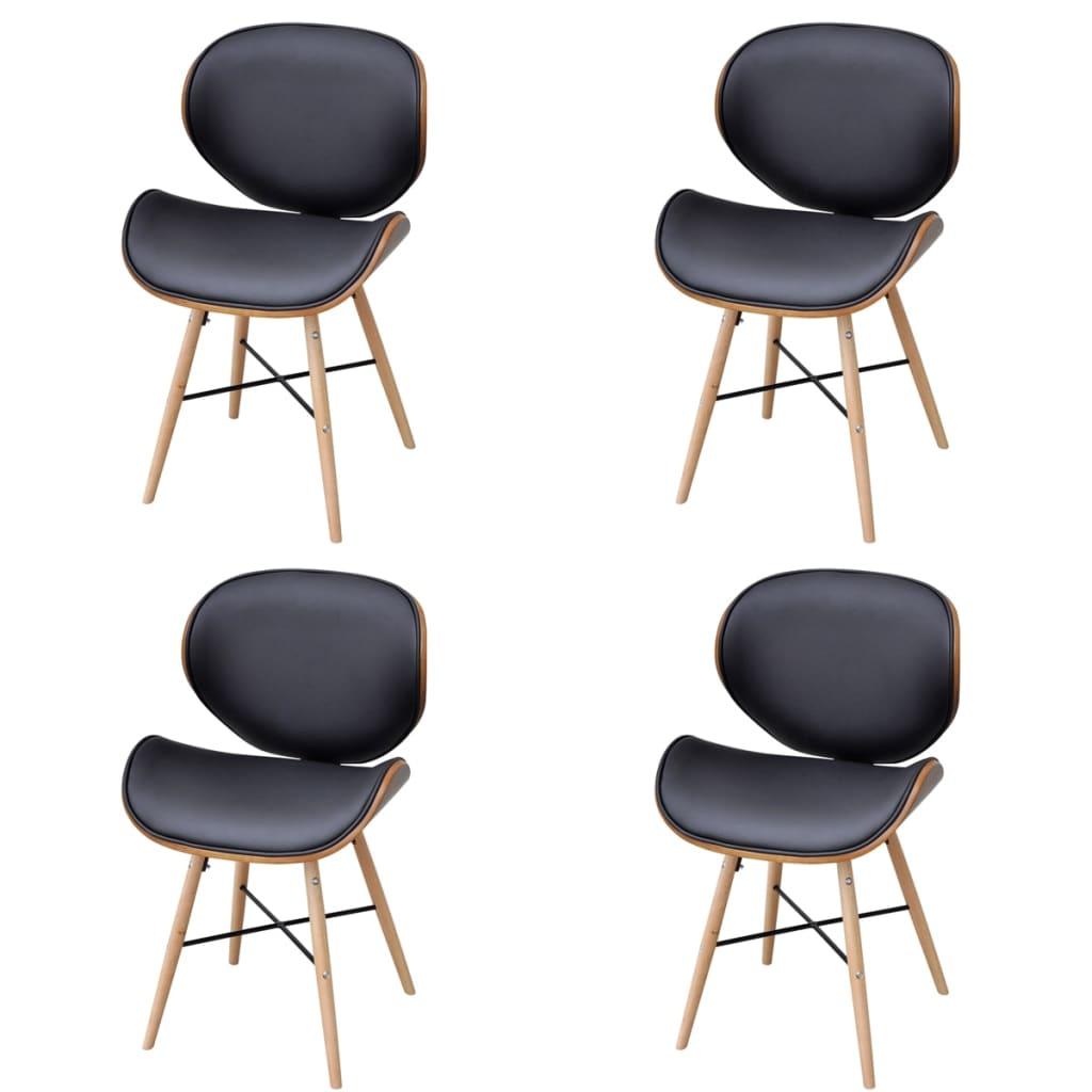 4 x esszimmerst hle ohne armlehnen mit bugholz rahmen g nstig kaufen. Black Bedroom Furniture Sets. Home Design Ideas