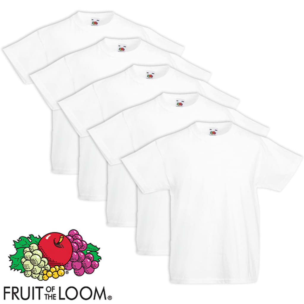 5 fruit of the loom original kids 39 t shirt. Black Bedroom Furniture Sets. Home Design Ideas