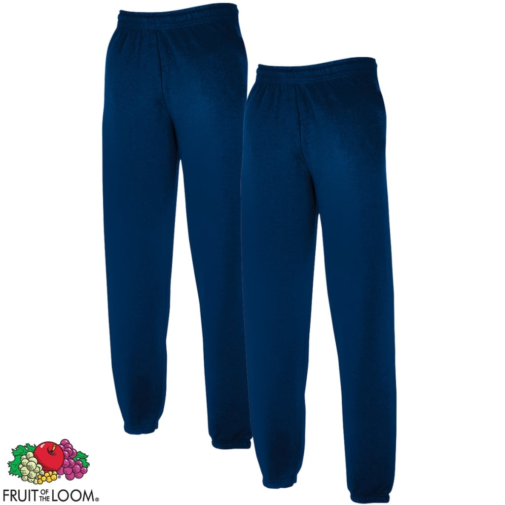 der 2 x fruit of the loom sweat pants elastische b ndchen marineblau xl online shop. Black Bedroom Furniture Sets. Home Design Ideas