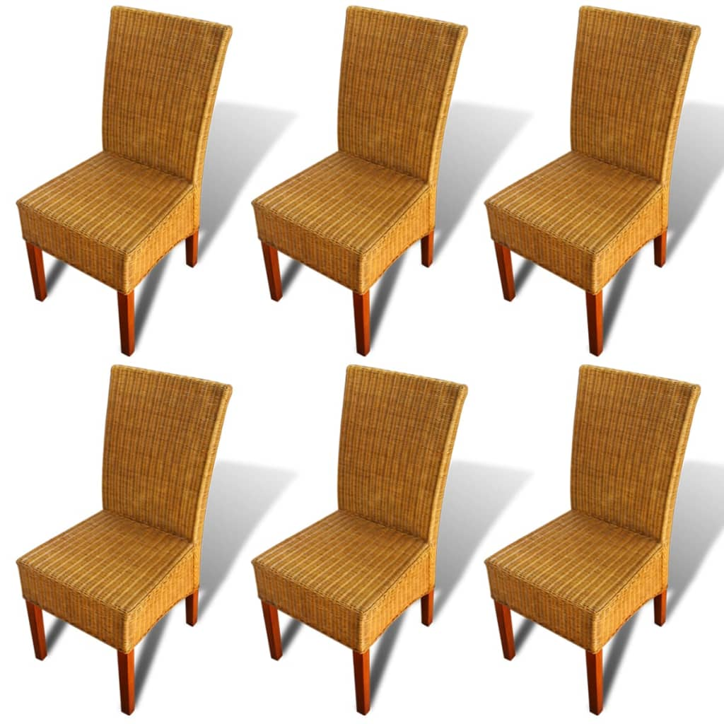 VidaXL.co.uk Set Of 6 Handwoven Rattan Dining Chairs. Full resolution‎  snapshot, nominally Width 1024 Height 1024 pixels, snapshot with #C54706.