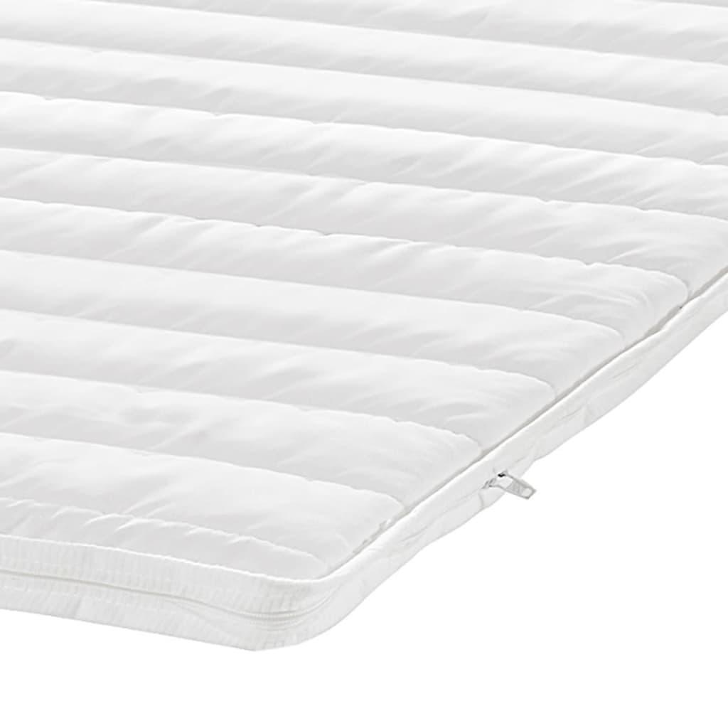 acheter lit capitonn en cuir artificiel blanc 140 cm. Black Bedroom Furniture Sets. Home Design Ideas