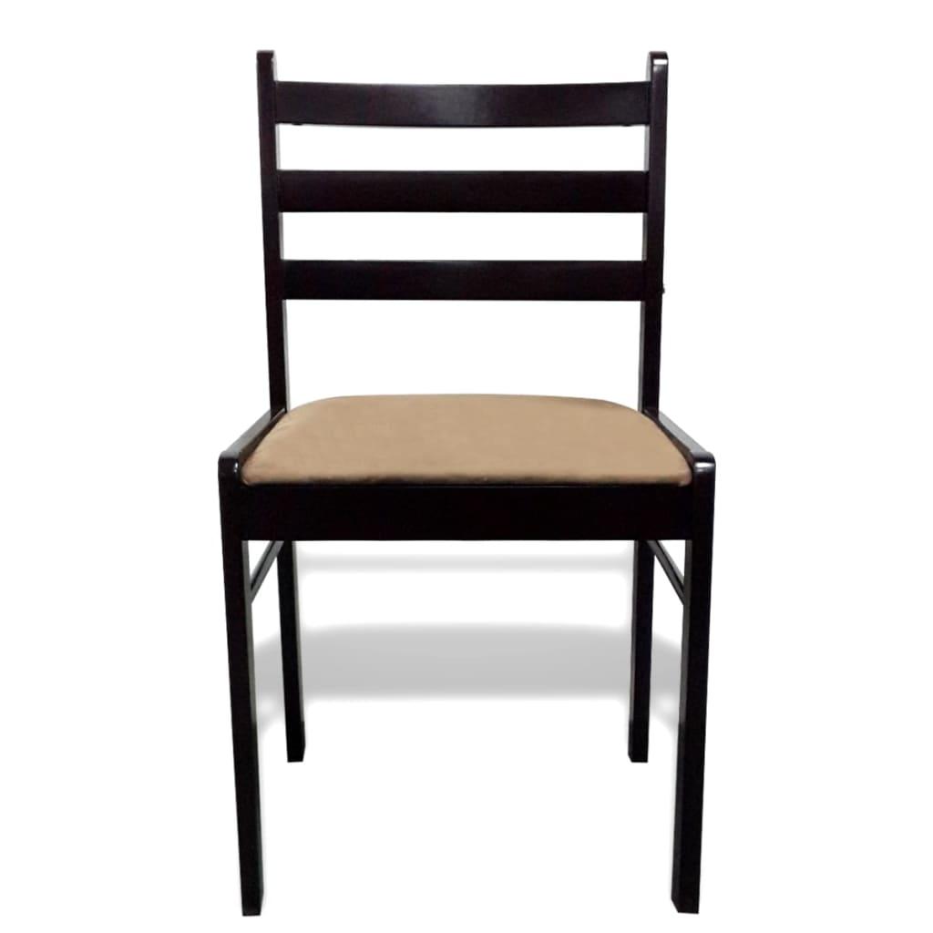 acheter lot de 6 chaises de salle manger en bois carr e. Black Bedroom Furniture Sets. Home Design Ideas